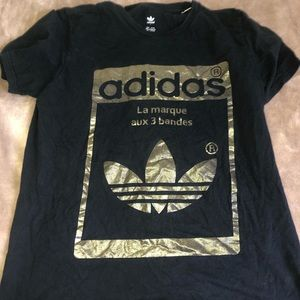 gold adidas shirt